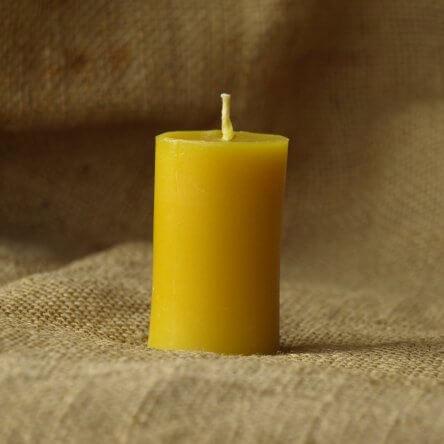 Świeczka z wosku Walec 6 cm